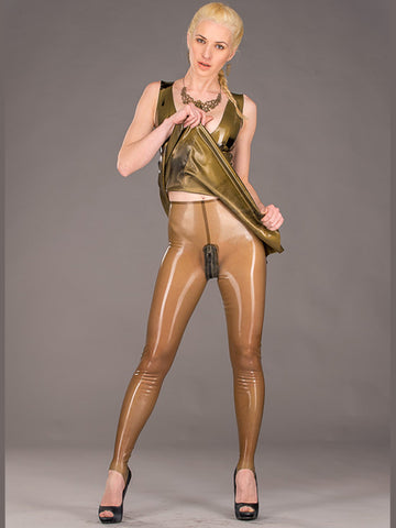 Ladies Latex Stirrup Leggings