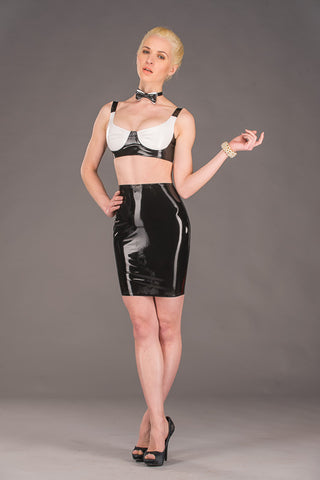 Latex Knee Length Skirt