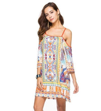 Load image into Gallery viewer, Flowy Drop Shoulder Summer Dress
