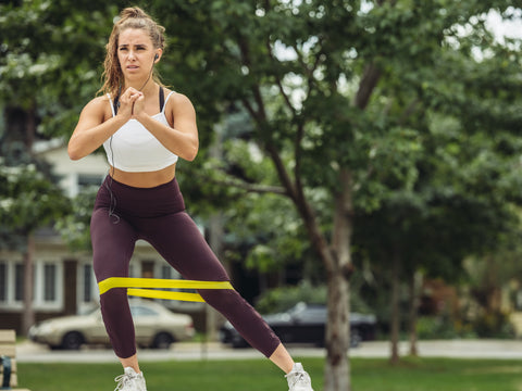 Resistance Band Lateral Lunge