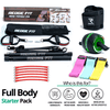 Get a personalized home gym pack that will cover all your needs from anywhere in the world! Become the master of your fitness journey with the Full Body All In One Pack. The Full Body Starter Pack will provide you with a weighted work out anytime and anywhere. The bundle includes: Redge Portable Gym Machine, Set of 3 Fabric Resistance Bands, Yoga Mat, Sweat Belt, and AB Roller Pro Size Chart: Size Waistline (Inches) Width (Inches) S 35.5 8.8 M 39.5 8.8 L 43.5 8.8 XL 47 8.8 XXL 51 8.8