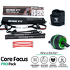 Get a personalized home gym pack that will cover all your needs from anywhere in the world! The Redge Fit Core Focus Pro Pack will help you reach your fitness goals 10x faster workout from anywhere in the world. Strengthen your full body and become master of your fitness journey! This bundle includes: Redge Fit Portable Gym Machine, Yoga Mat, Sweat Belt, and AB Roller Pro  Size Chart: Size Waistline (Inches) Width (Inches) S 35.5 8.8 M 39.5 8.8 L 43.5 8.8 XL 47 8.8 XXL 51 8.8