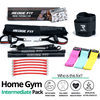 Get a personalized home gym pack that will cover all your needs from anywhere in the world! Become the master of your fitness journey with the Home Gym Intermediate Pack. Reach Fitness Goals 10x Faster with the Home Gym Intermediate Pack. This bundle includes: Redge Portable Gym Machine, Set of 3 Fabric Resistance Bands, and Sweat Belt Size Chart: Size Waistline (Inches) Width (Inches) S 35.5 8.8 M 39.5 8.8 L 43.5 8.8 XL 47 8.8 XXL 51 8.8