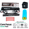 Get a personalized home gym pack that will cover all your needs from anywhere in the world! The Core Focus Starter Pack will help you become the master of your fitness journey by eliminating every excuse you have to living a healthy lifestyle. This bundle includes: Redge Fit Portable Gym Machine, Yoga Mat, Sweat Belt, and AB Roller Pro  Size Chart: Size Waistline (Inches) Width (Inches) S 35.5 8.8 M 39.5 8.8 L 43.5 8.8 XL 47 8.8 XXL 51 8.8