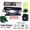 Get a personalized home gym pack that will cover all your needs from anywhere in the world! The Redge Fit Core Focus All In One Pack will help you become the master of your fitness journey by eliminating every excuse you have to living a healthy lifestyle. This bundle includes: Redge Fit Portable Gym Machine, Yoga Matt, Sweat Belt, and AB Roller Pro  Size Chart: Size Waistline (Inches) Width (Inches) S 35.5 8.8 M 39.5 8.8 L 43.5 8.8 XL 47 8.8 XXL 51 8.8