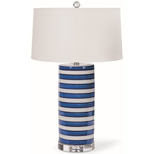 Blue Stripe Ceramic Lamps