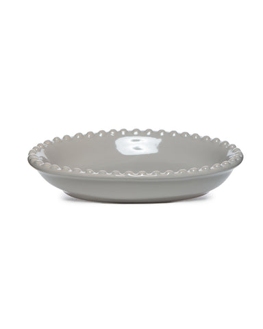 Pewter Ceramic Soap Dish