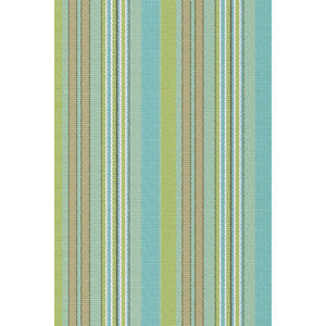 Blue and Green Striped 2X3 Rug