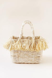 Straw Fringe Structured Tote