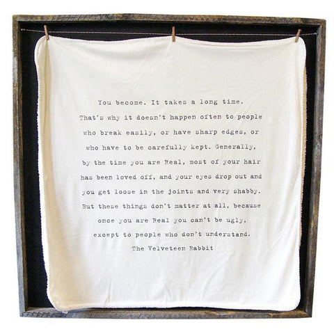The Velveteen Rabbit Baby Blanket
