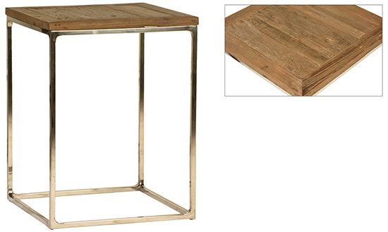 Wooden Top Side Table