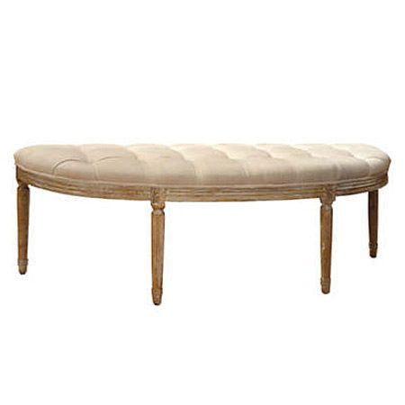 Crescent Tufted Bench