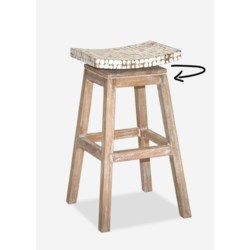 Bar Stool with whitewash finish