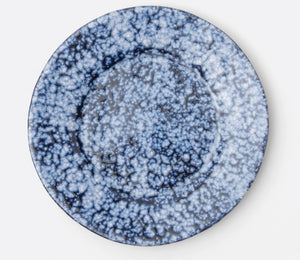 Dark Blue Spotted Salad Plate