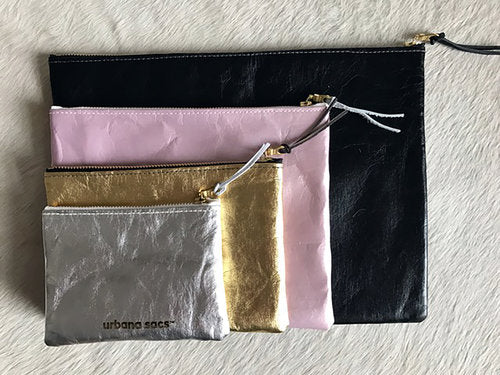 Medium Recycled Zipper Pouch