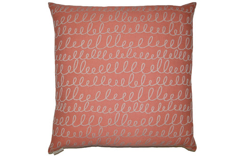 Verbomania Salmon Pillow