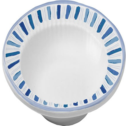 Watercolor Blue Melamine Soup Bowl