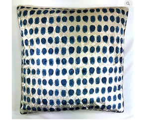 Coin Lapis Velvet Pillow