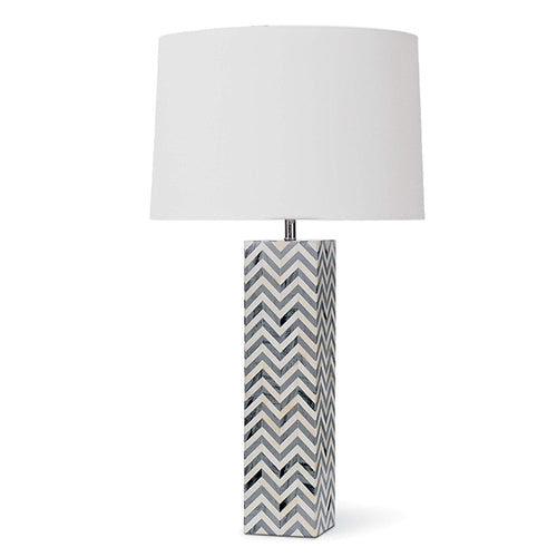 Grey Chevron Table Lamp