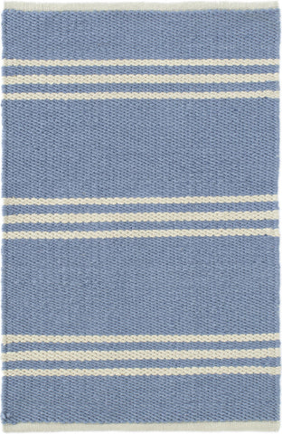 French Blue Striped 2X3 Rug
