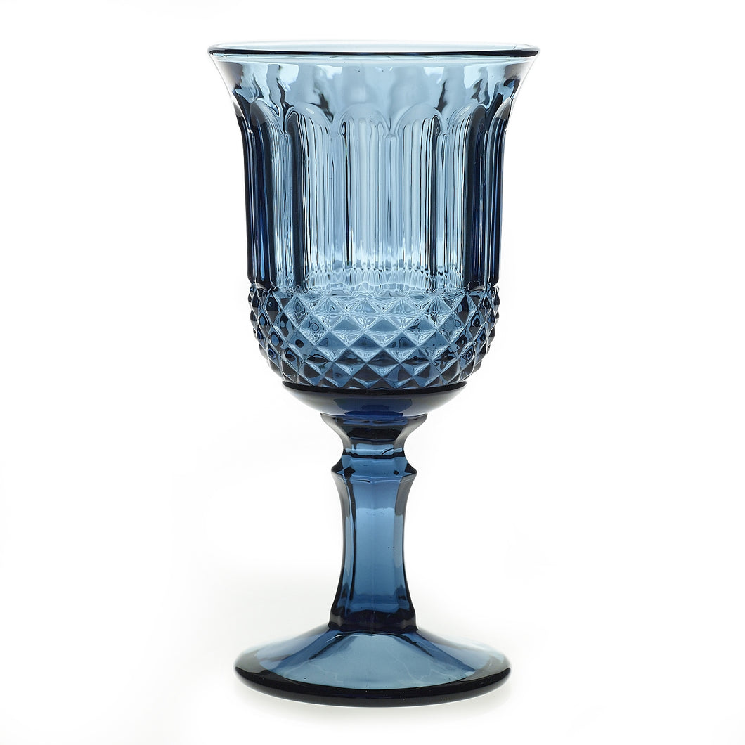 Dark Blue Drinking Glass