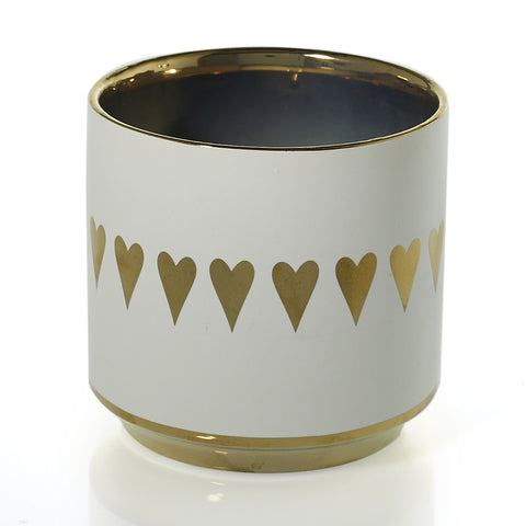 Small Gold Heart Pot
