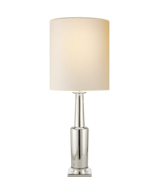 Large Silver Table Lamp