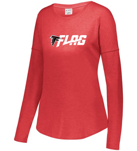 Long Sleeve Tri Blend - Ladies - Atlanta Falcons