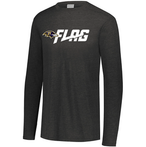 Long Sleeve Tri Blend - Youth - Baltimore Ravens