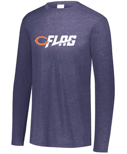 Long Sleeve Tri Blend - Adult - Chicago Bears
