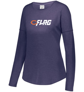 Long Sleeve Tri Blend - Ladies - Chicago Bears