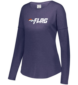 Long Sleeve Tri Blend - Ladies - Denver Broncos