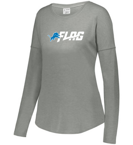 Long Sleeve Tri Blend - Ladies - Detroit Lions