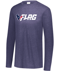 Long Sleeve Tri Blend - Adult - Houston Texans