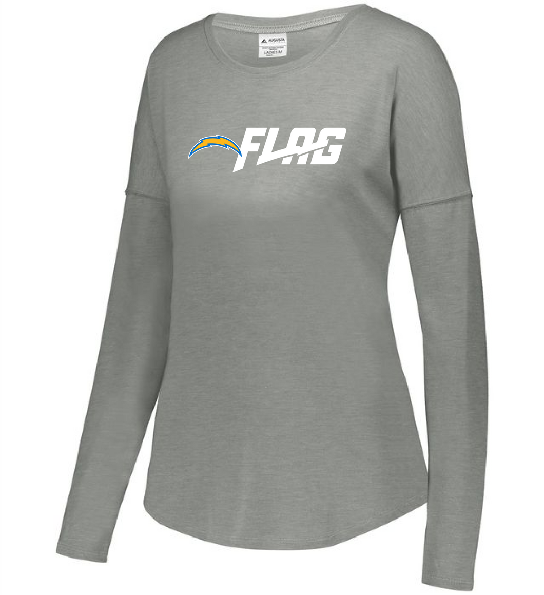 Long Sleeve Tri Blend - Ladies - Los Angeles Chargers