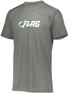 Tri Blend T Shirt - Adult - Miami Dolphins