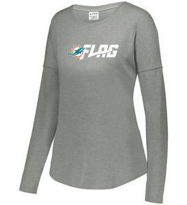 Long Sleeve Tri Blend - Ladies - Miami Dolphins