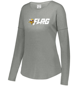 Long Sleeve Tri Blend - Ladies - Minnesota Vikings