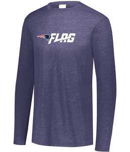 Long Sleeve Tri Blend - Adult - New England Patriots