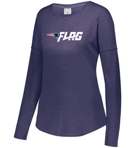 Long Sleeve Tri Blend - Ladies - New England Patriots