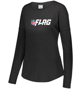 Long Sleeve Tri Blend - Ladies - NFL FLAG