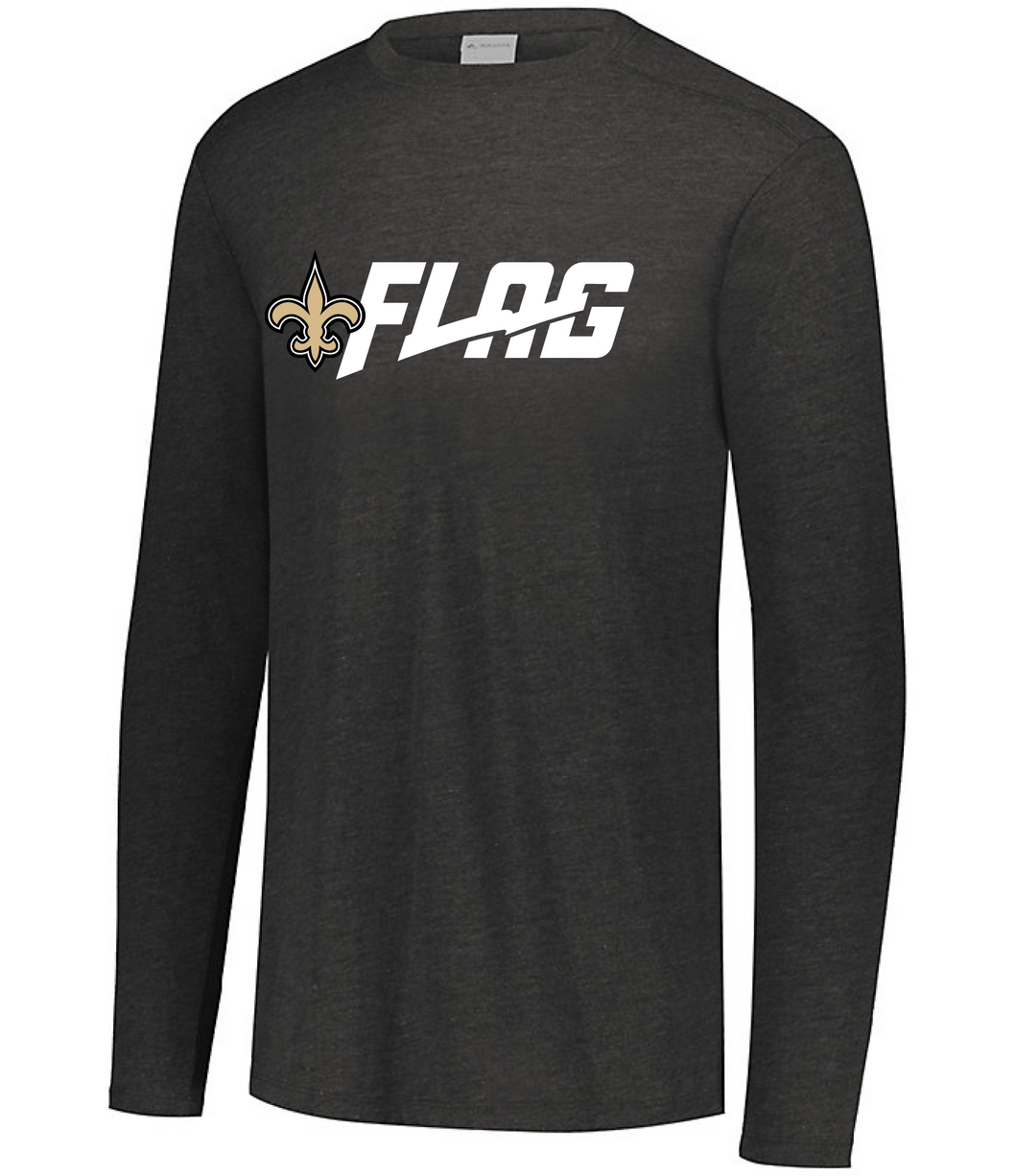 Long Sleeve Tri Blend - Youth - New Orleans Saints