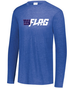 Long Sleeve Tri Blend - Youth - New York Giants