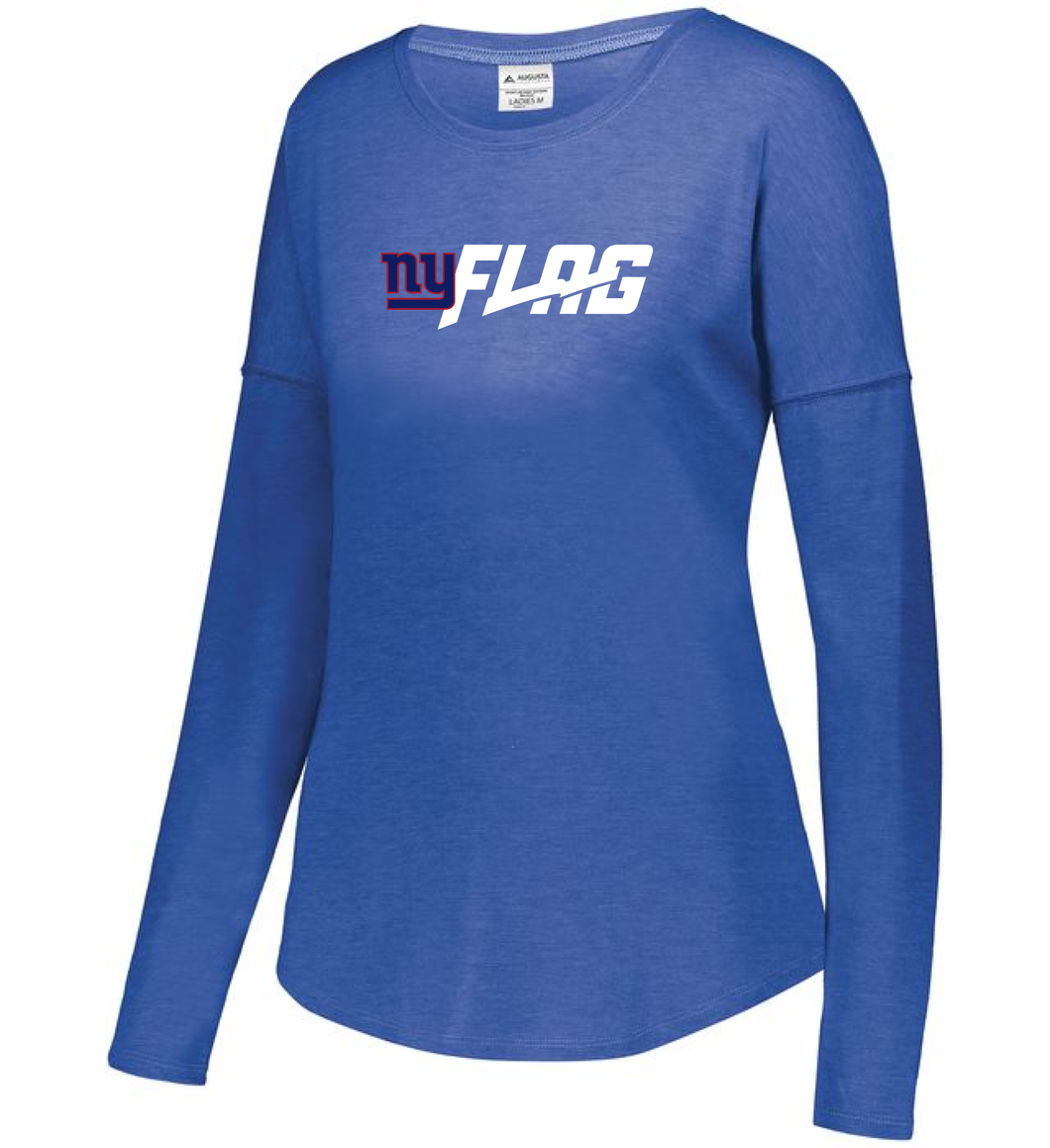 Long Sleeve Tri Blend - Ladies - New York Giants