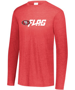 Long Sleeve Tri Blend - Youth - San Francisco 49ers