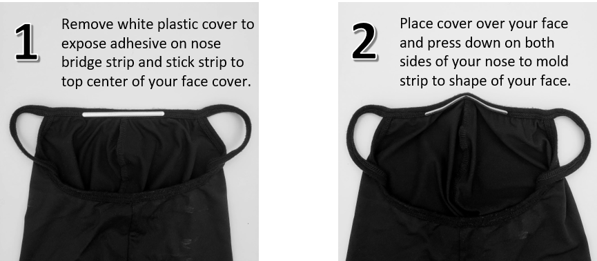 Instructions for nose bridge inserts for Sea to Me Cooling Face Covers