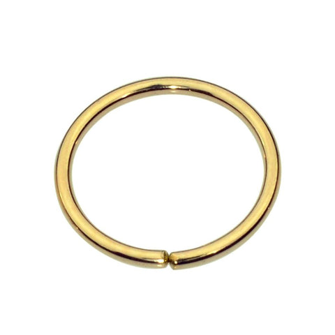 14K Solid Yellow/Rose/White Gold nose ring hoop/tragus earring hoop