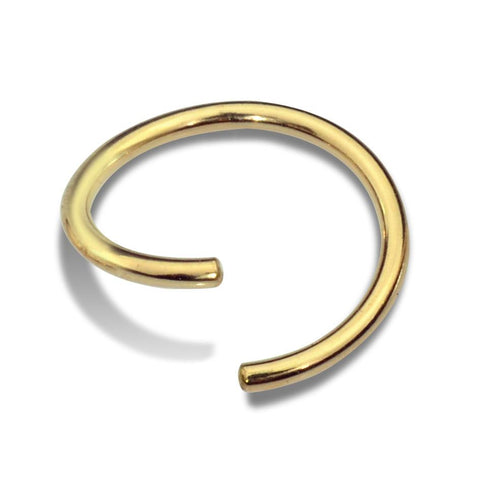 Septum Ring - Cartilage Earring - Conch Ring - Nipple Ring 14K Solid Gold