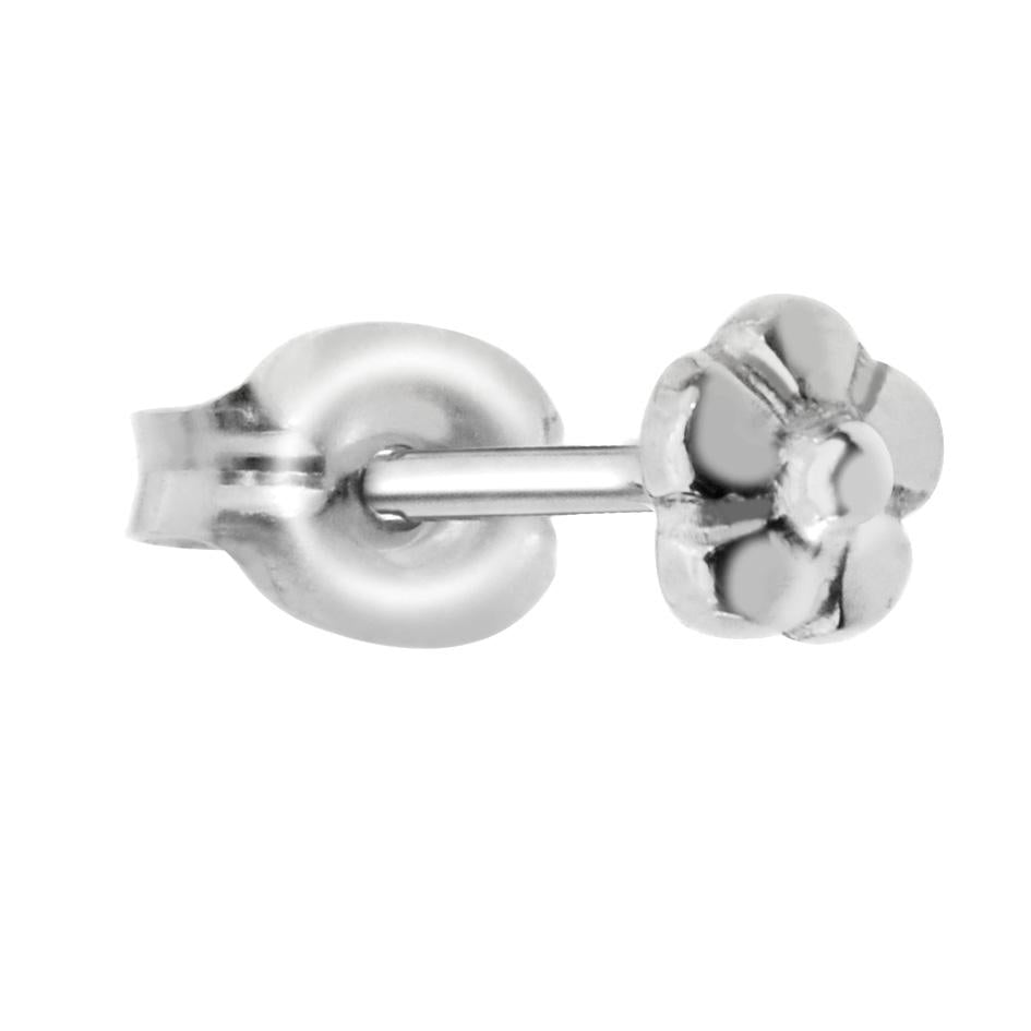 Sterling silver flower tragus/cartilage stud earring.