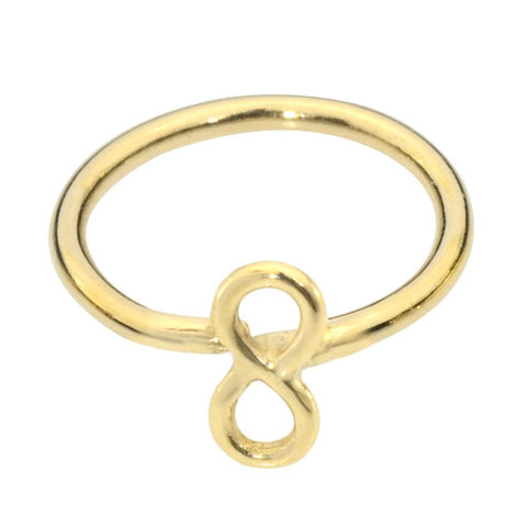 14K solid yellow/rose/white gold infinity nose ring/tragus earring hoop.
